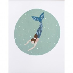 Posters Mermaid DIN A3