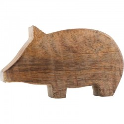 Pig made of wood, large