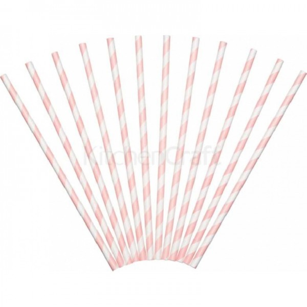 Paper Straws, red, 24
