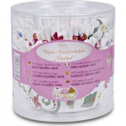 Paper baking cup flowergarden, 100 pieces