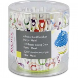 Paper baking cup party mix, 100 pieces