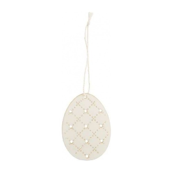 Paper cut egg with dots pattern
