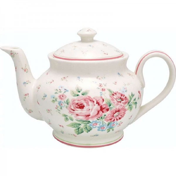 teekanne teapot marley white von greengate. Black Bedroom Furniture Sets. Home Design Ideas