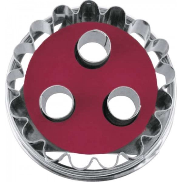 Linzer cookie cutter with ejector