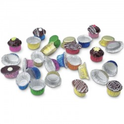 Round Cupcake Wrapper, Multi-Colour, 30 pieces