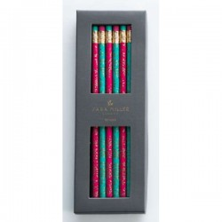 Sara Miller Gold Leaves Pencil Set
