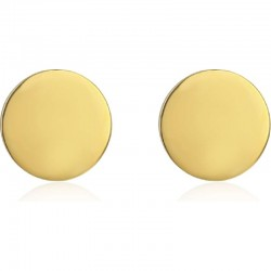 Stud Earrings Round, gold, 925 Sterlingsilber
