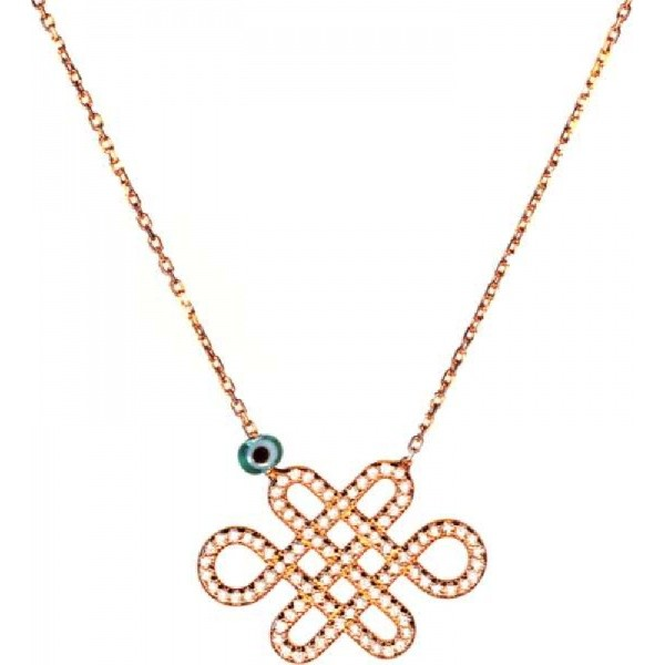Necklace Heart - Sterling Silver,  rose gold plated