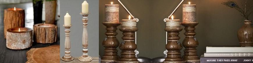 Kerzen, Kerzenstaender, Windlichter